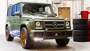 Brabus Mercedes-Benz AMG G63 Gets Military Green Exterior And ADV1s