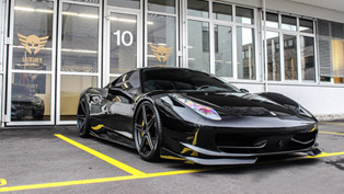 dmc transforms ferrari 458 italia with aero package