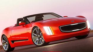 Kia GT4 Stinger Convertible Concept [render]