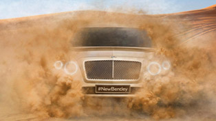 bentley offers first glimpse of new production suv [teaser]