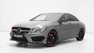 brabus gives more style and power to mercedes-benz cla45 amg