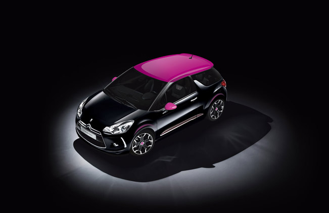 citroen ds3 dark rose limited edition to be launched by alfred hitchcock. Black Bedroom Furniture Sets. Home Design Ideas