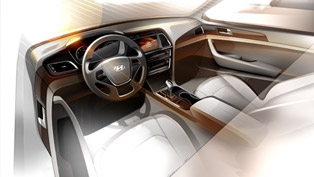Hyundai Reveals Sonata's First Interior Rendering