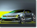 Volkswagen Golf R 400 Concept Car [sketch]