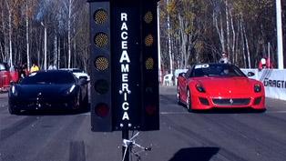 Ferrari 599 GTO vs Ferrari 458 Italia [video]