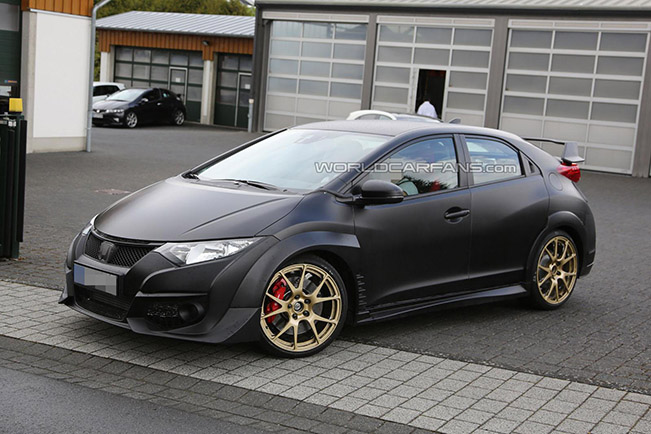 2015 honda civic type r spy photos. Black Bedroom Furniture Sets. Home Design Ideas
