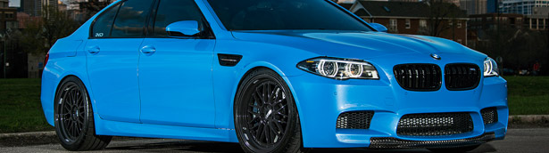 Project Blue Deluge: iND BMW F10 M5 In Yas Marina Blue