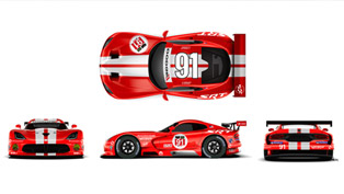 Two Dodge Viper SRT GTS-Rs Get New Livery