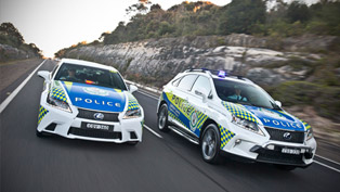Lexus Launches Two Police Hi-Vis Hybrids