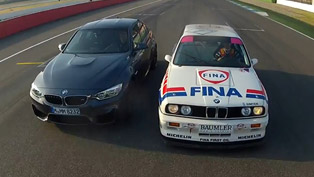 2014 BMW F80 M3 Sedan vs E30 M3 DTM - Hockenheim [video]