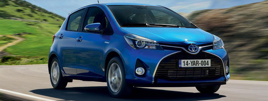 toyota yaris front 2015