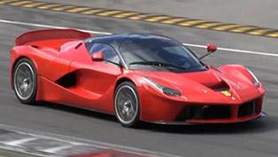 ferrari laferrari xx prototype at the monza race track