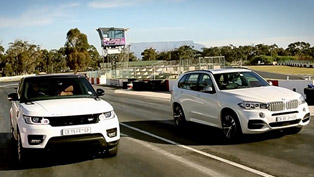 BMW X5 F15 M50d vs Range Rover Sport - Drag [video]