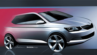 Skoda Teases 2015 Fabia With Design Sketch