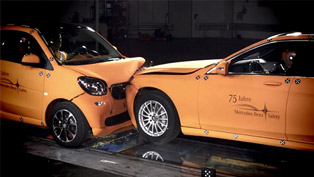 2014 Smart ForTwo vs 2014 Mercedes-Benz S-Class - Crash Test