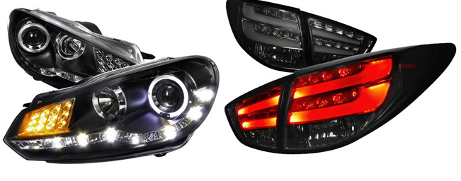 Projector Headlights and LED Taillights