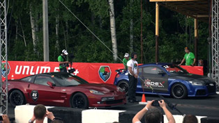 Audi TT-RS vs Chevrolet Corvette ZR1 and BMW M6 F13 Coupe [video]