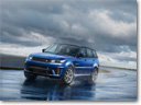 The 2015 Range Rover Sport SVR is a high-performance vehicle