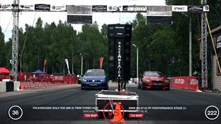 Volkswagen Golf VI R36 vs BMW M6 F13, Lamborghini Gallardo LP560 and Mercedes-Benz CLS 63 AMG