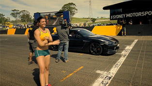 Nissan GT-R vs Michelle Jenneke - Australian Hurdler