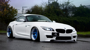 duke dynamics and sr auto collaborate to show stunning bmw z4