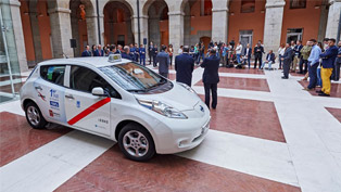 Nissan ships first all-electric taxis to Barcelona and Madrid