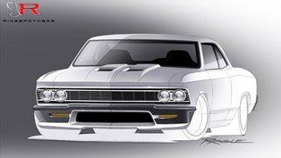 Ringbrothers Shows Sketches of 980 HP Chevrolet Chevelle Ahead of SEMA Reveal