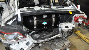 Chevrolet Impala's CNG tank can survive bullets