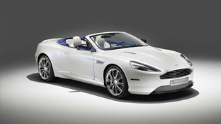 aston martin produces one-off db9 volante morning frost