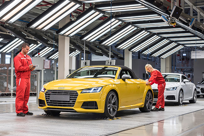 Where are audis manufactured