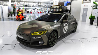 ss customs and tesla create one-off teslavets to celebrate veterans day