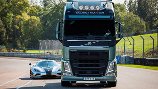 Game on: Volvo FH Truck Racing Against Koenigsegg One:1