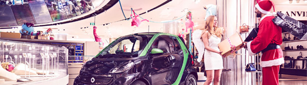 BRABUS smart electric drive Goes Shopping