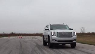 hennessey gmc yukon denali hpe650 runs 0-60 mph in 4.5 seconds [video]