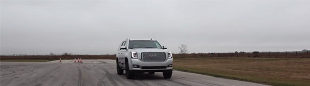 Hennessey GMC Yukon Denali HPE650 Runs 0-60 mph in 4.5 seconds [VIDEO]