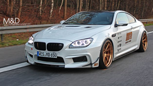 m&d exclusive cardesign converts bmw 650i into m6