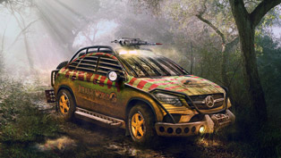 Mercedes-Benz GLE 450 AMG Scares with Jurassic Park Makeover