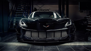 chevrolet corvette stingray c7 with a devilish smile