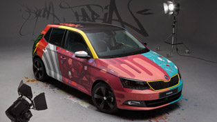 graffiti skoda: looks worse than a picture painted with two left hands