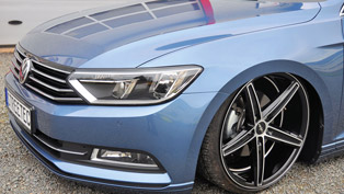 The Boring Volkswagen Passat B8 Receives Refreshing Ox18 Concave Alloys