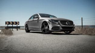 Mercedes-Benz C-class Receives DEZENT TG Dark Wheels