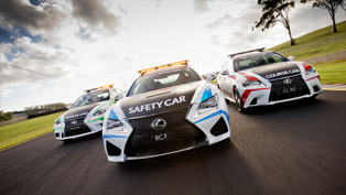 lexus enters 2015 v8 supercars events with official rc f safety car