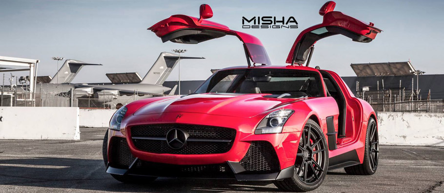 MISHA Designs Mercedes SLS AMG Equipped with new aero kit