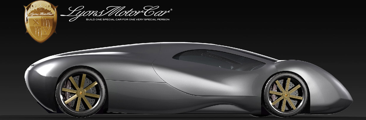 Lyons Motor Car LM2 Streamliner Side View