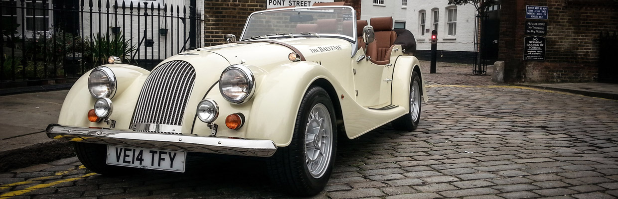 2015 Morgan Balvenie Promotional Car Front and Side View