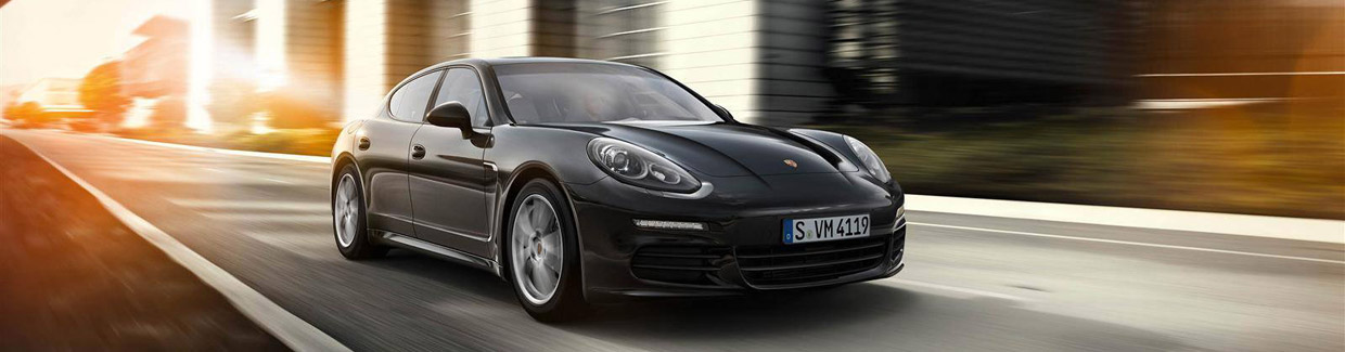 Porsche Panamera Edition Front and Side View