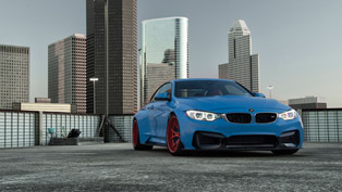 Vorsteiner Widens BMW M4 and Calls it Yas Marina Blue GTRS4