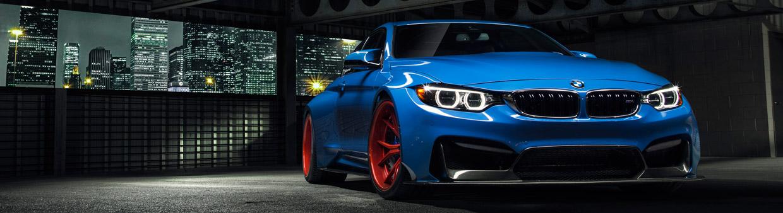 Vorsteiner BMW Yas Marina Blue GTRS4 Anniversary Edition Front View