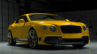 vorsteiner's yellow continental gt is simply gorgeous