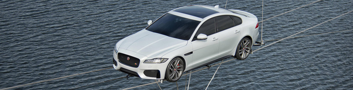 2016 Jaguar XF Revealed in Dramatic 'High-Wire' Journey